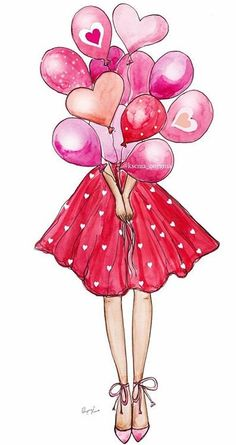 Birthday girl drawing illustrations 52 Ideas for 2020 Girly Drawings, Art Drawings Sketches, Birthday Girl Quotes, Digital Art Girl, Illustration Girl, Art Illustrations, Birthday Balloons, Fashion Sketches, Cute Wallpapers