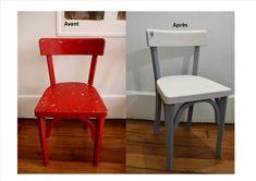 Rénovation d'une chaise bistro enfant : avant/après