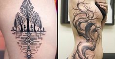 Trees make fantastic tree tattoos, because they are allowing every kind of creativity.