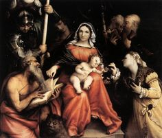 Mystic Marriage of St. Catherine by Lorenzo Lotto