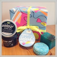 Splash! A perfect gift for shower lovers. Sea Veg soap, Whoosh shower jelly, seanik solid shampoo bar and ocean salt face and body scrub. Be a mermaid in the shower!