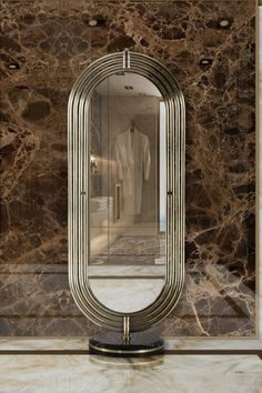 The design of a space is capable of setting your mood through the atmosphere it creates, and a fabulous master bathroom or dressing room isn't complete without an outstanding full-lenght mirror! The Colosseum Mirror offers a practical and magnificent solution and an extra little helper we need when getting ready either in the morning, for a big and special event.