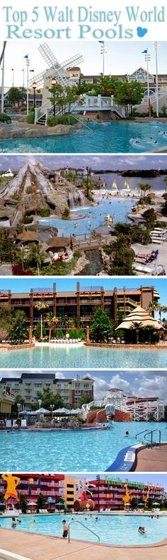"""Top 5 Best Walt Disney World Resort Pools.pool hopping added to m """"Have to"""" list for June 2016 vacation :) Best Disney World Resorts, Disney Hotels, Walt Disney World Vacations, Disney Trips, Dream Vacations, Disney Travel, Disney Fun, Disney Parks, Disney Cruise"""