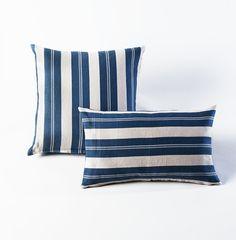 Montauk Blue Stripes Pillow - HomeMint