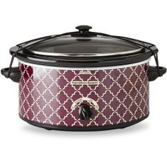 Hamilton Beach 5-Quart Purple/Geometric Oval Portable Slow Cooker  #prplkitchen Purple Kitchen Decor, Purple Kitchen Accessories, Purple Toaster, Small Appliances, Kitchen Appliances, Hamilton Beach, Dish Towels, Utensils, Decorative Items