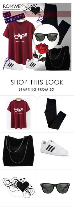 """""""NEW CONTEST,WIN ''Red T-shirt''"""" by dzenitaax ❤ liked on Polyvore featuring J Brand, Gucci, adidas and Ray-Ban"""