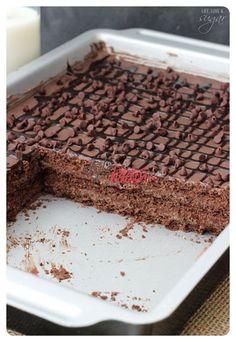 Çikolatalı soğuk pasta 2. aşama