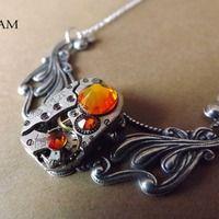 Collar Steampunk fuego