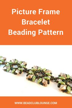 The Picture Frame Bracelet beading pattern uses a combination of DiamonDuo beads, SuperDuo beads, bicones and seed beads. via Bead Club Lounge Beaded Necklace Patterns, Jewelry Patterns, Beaded Jewelry, Beaded Bracelets, Women's Jewelry, Charm Bracelets, Luxury Jewelry, Jewelry Making Tutorials, Beading Tutorials