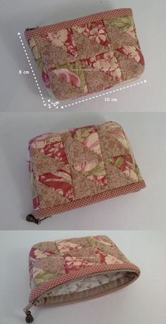 PDF Pattern Bundle - Quilted Notions Pouch and Patchwork Project Pouch PDF Sewing Patterns Pouch Pattern, Purse Patterns, Pdf Sewing Patterns, Patchwork Bags, Quilted Bag, Pochette Diy, Sew Wallet, How To Make Purses, Fabric Purses