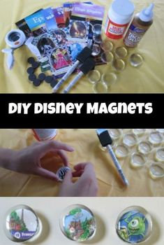 DIY Disney Magnets made from DIY Disney Themed Magnets Great Disney souvenir! DIY Disney Magnets made from Disney Crafts For Kids, Crafts For Teens To Make, Crafts To Sell, Home Crafts, Easy Crafts, Diy And Crafts, Arts And Crafts, Diy Disney Gifts, Disney Ideas