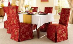 dining room chair covers on pinterest dining room chair. Black Bedroom Furniture Sets. Home Design Ideas