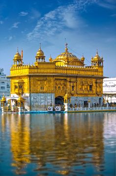 Photo about The The Golden Temple is the holiest shrine in Sikhism. It is located in the Amritsar, India. Image of minaret, architecture, amritsar - 54873749 Temple India, Indian Temple, Golden Temple Wallpaper, Bhagat Singh Wallpapers, Guru Nanak Photo, Monument In India, Guru Nanak Wallpaper, Guru Pics, Golden Temple Amritsar