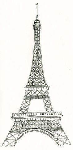 La tour Eiffel tower art PEN AND INK