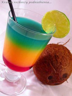 Dokładnie rok temu zrobiłam pierwszy wpis na blogu. Bardzo szybko minęło mi te 12 miesięcy. Na dobre wsiąkłam w blogowanie i już sob... Jamaica Drink, Cocktail Drinks, Cocktails, Winter Wedding Ceremonies, Virgin Drinks, Blue Curacao, Food And Drink, Tableware, Impreza