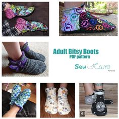 The Adult Bitsy Boots from Sew U Can Patterns have just released and are on sale until Monday Sept. 25th 11:59 CST no code needed.