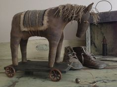 Primitive Horse Pull Toy
