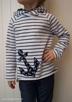 maritimer ROBIN Hoodie aus Ringel-Jacquard