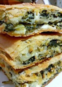 Greek Desserts, Greek Recipes, Desert Recipes, Baking Basics, Savory Muffins, Cheese Pies, Spanakopita, Kids Meals, Bakery