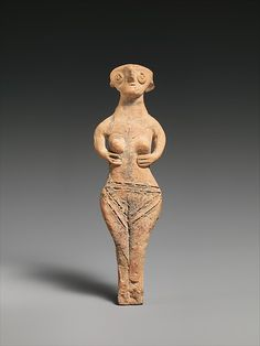 Terracotta statuette of a woman. Late Cypriot, ca. 1450–1200 B.C., terracotta; hand-made