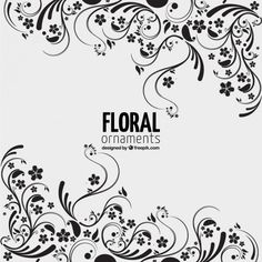 Floral ornaments background Free Vector