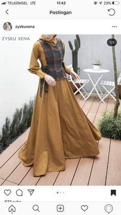 Abaya Fashion, Muslim Fashion, Modest Fashion, Dress Muslimah, Hijab Dress, Muslim Long Dress, Casual Hijab Outfit, Dress Clothes For Women, Fashion Sewing