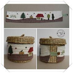 IKEA baskets lined - Diy Fabric Basket Christmas Applique, Christmas Fabric, Aplique Quilts, Diy Christmas Baskets, Ikea Basket, Fabric Basket Tutorial, Clothes Basket, Fabric Scraps, Pin Cushions