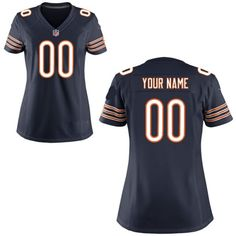 Nike Style Women s Chicago Bears Customized Team Color Blue (Any Name  Number) - Custom Made Sports Jersey 5729246aa71