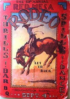 Vintage rodeo poster...so jealous @Jessie Fisher