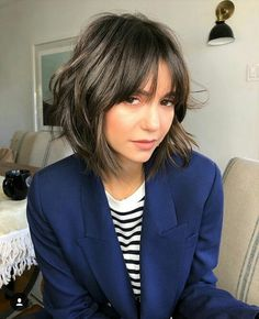 Nina Dobrev shag haircut