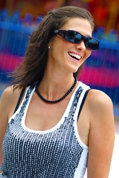 Aria Purple Heart with Crystals from Swarovski® fitovers by Jonathan Paul® -- These over Rx sunglasses fit perfectly over any and all prescription glasses *as long as you have the right size* - So size yourself now and see which ones fit you: https://fitovers.com/size