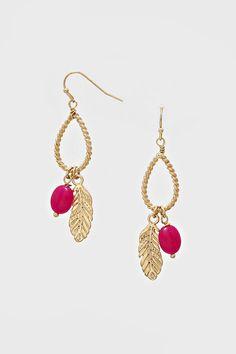 Kimmie Earrings in Poppy Agate
