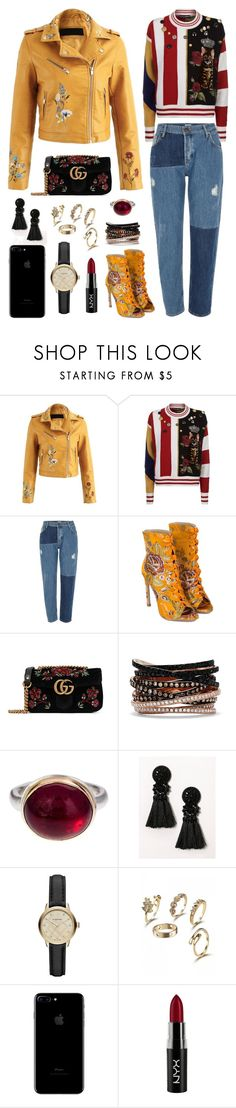"""""""Sin título #106"""" by pessky ❤ liked on Polyvore featuring Dolce&Gabbana, River Island, Gucci, Effy Jewelry, Jamie Joseph, Burberry and NYX"""