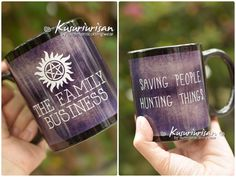 Supernatural Saving people hunting things The family business black mug-4 colors for choose by kusuriurisan on Etsy https://www.etsy.com/listing/256598949/supernatural-saving-people-hunting