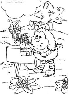 rainbow brite coloring pages online rainbow brite color page cartoon characters coloring pages color - Colouring Pages Cartoon Characters
