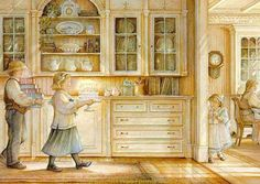 Carl Larsson, artist - How beautiful this would be in a Scandinavian kitchen!!!