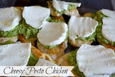 Cheesy Chicken Pesto {Without Pine Nuts} Recipe