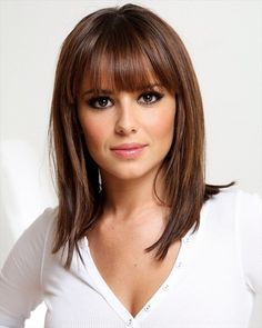 This is such a cute classic cut. I wonder if it would look the same on me. Love the bangs though!