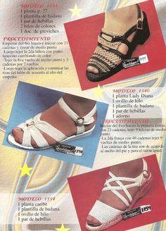 DE MIS MANOS TEJIDOS Y MAS...: Otros modelos de zapatos