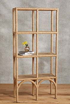 Rope-Wrapped Shelf... I'd like this for my makeup or accessories.  Then I can see everything from all angles!