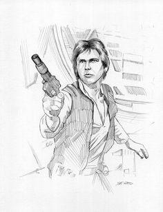 Han Solo Star Wars Drawing by Jeff Ward #Realism #hansolo #starwars #sketchcard #aceo