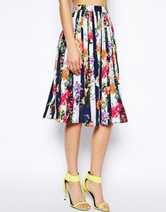 Most gorgeous midi skirt- Look at those colors - LOVE- ASOS USA
