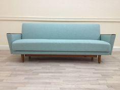 Mid Century Original 1950s Sprung Day Bed Sofa Vintage Retro 60s 70s Danish | eBay