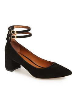 Linea Paolo 'Noel' Pointy Toe Ankle Strap Pump (Women) available at #Nordstrom
