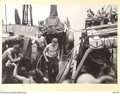 AT SEA. 1944-11-12. USN PATROL TORPEDO BOAT 227 PREPARING TO BE TOWED BY HMAS STAWELL. Pt Boat, Us Navy Ships, Tin Cans, Flight Deck, United States Navy, Us Army, Ww2, Decks, Boats