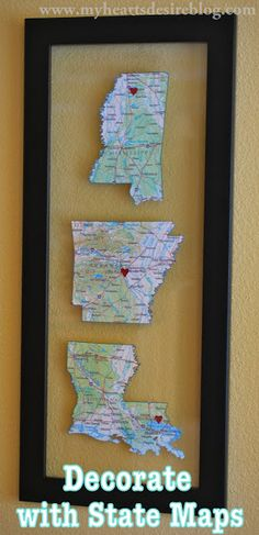 Decorate with Maps | Amanda Jane Brown