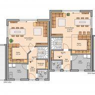 Grundriss zweifamilienhaus mit einliegerwohnung for Zweifamilienhaus grundriss beispiele