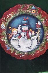 Snowman Plate 118
