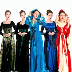 Cheap clothing halloween, Buy Quality clothing pakistan directly from China clothing usa Suppliers: Lolita, Gothic Renaissance Medieval Costume Mythic long Dress woman's dress Queen Court costume Halloween pa