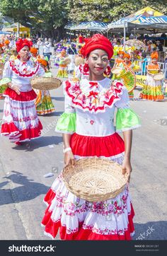 BARRANQUILLA , COLOMBIA - FEB 07 : Participants in the Barranquilla Carnival in Barranquilla , Colombia on February 07 2016. Barranquilla Carnival is one of the biggest carnivals in the world